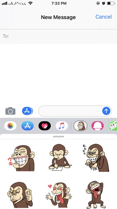 Monki - Animated Stickers screenshot 1