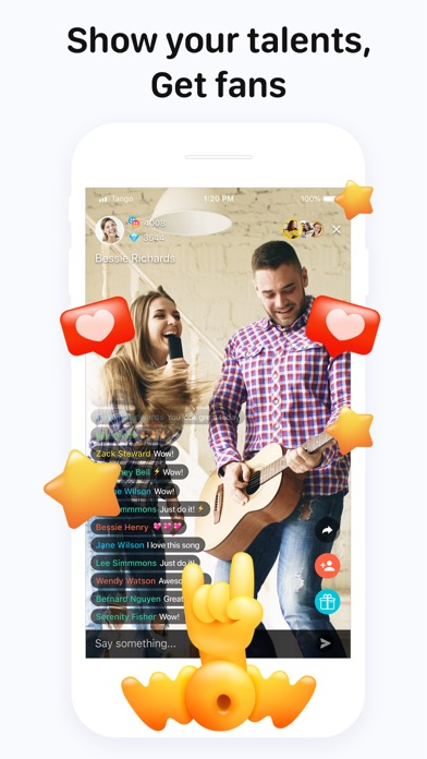 Tango - Live Video Broadcasts Screenshot