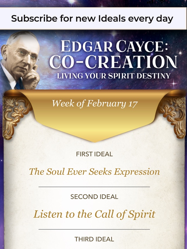 Edgar Cayce: Co-Creation on the App Store