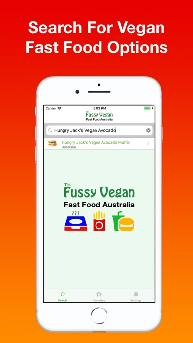 Screenshot for Fussy Vegan Fast Food AU in Singapore App Store