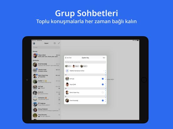 Signal - Gizli Mesajlaşma ipad ekran görüntüleri