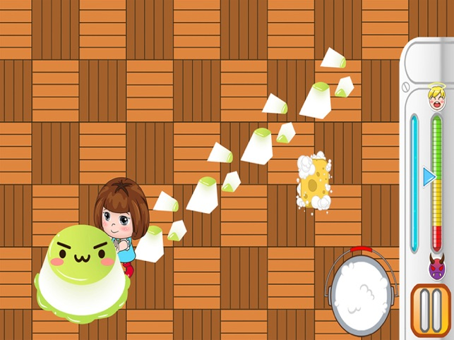 Bella mop the room floor game, game for IOS