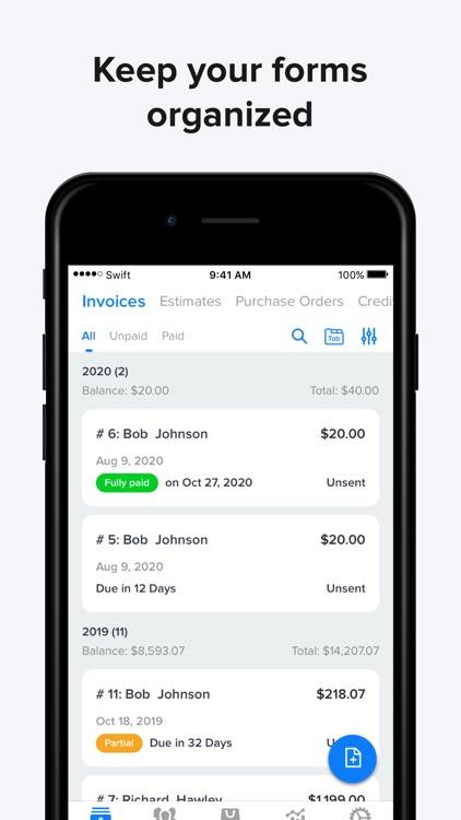Invoice Maker, Swift Invoice screenshot-3