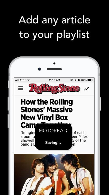 Text to Speech News - Motoread