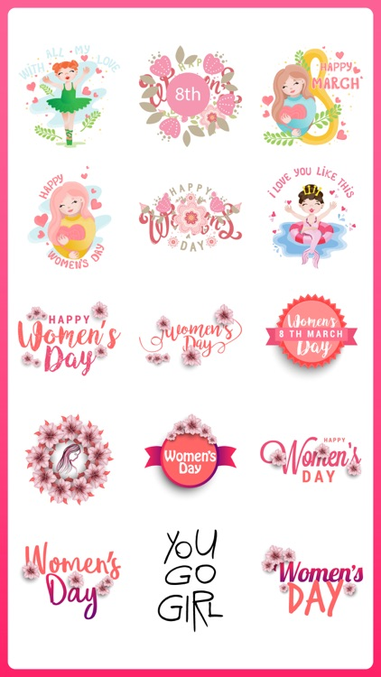 Women's Day Cards Stickers Emo
