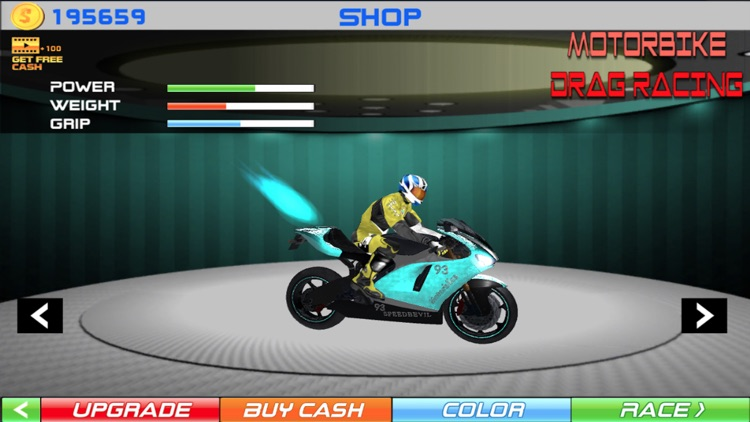 MotorBike Drag Racing screenshot-4
