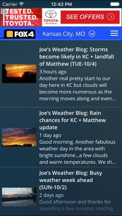 WDAF Fox 4 Kansas City Weatherのおすすめ画像4