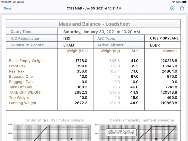C182 M&B screenshot-3