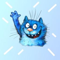 Blue Cat Emojis