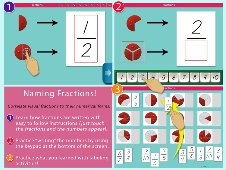Montessori Preschool Fractions screenshot-4