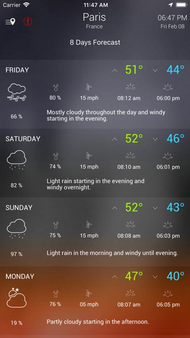 Wther - Weather Forecastのおすすめ画像7