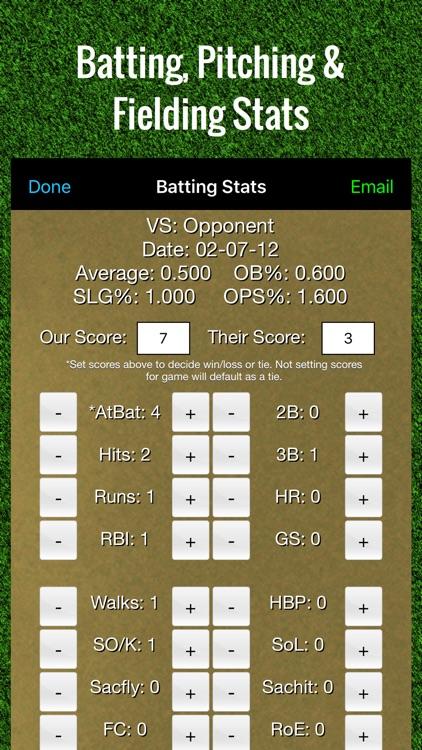 Baseball Stats Tracker Touch screenshot-0