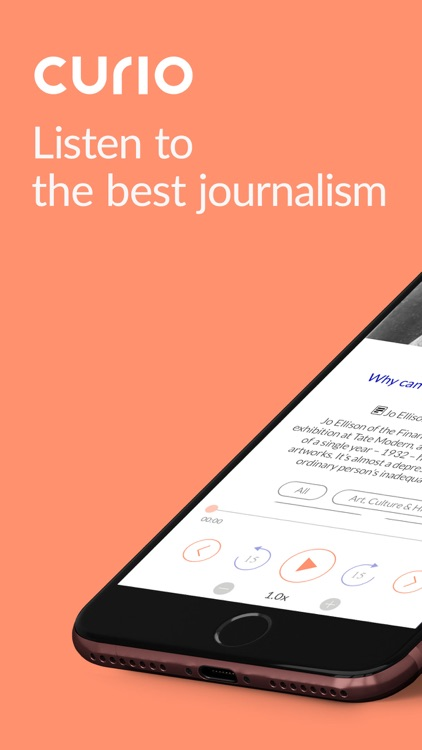 Curio: Hear great journalism screenshot-0