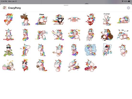 Crazy Pony Funny Stickers screenshot 4