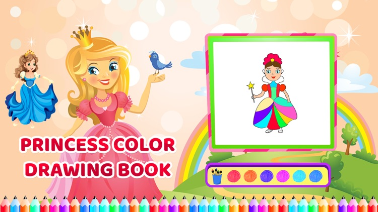 Princess Colour Drawing Book screenshot-4