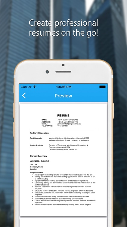 Resume Builder: Resume Creator screenshot-0