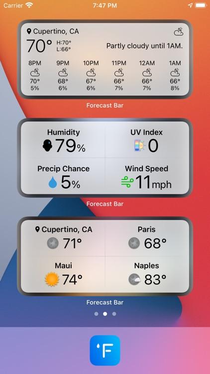 Forecast Bar - Weather + Radar screenshot-3