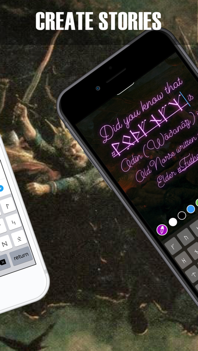 Rune Keyboard: Futhorc Futhark screenshot two