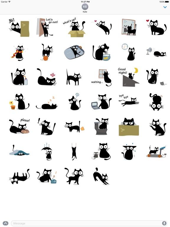 Cute & Weird Black Cat Sticker screenshot 4