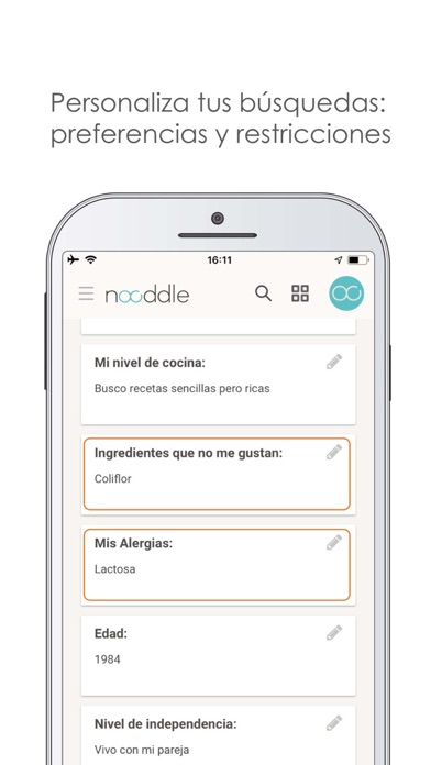 download Nooddle App - Recetas sanas apps 0