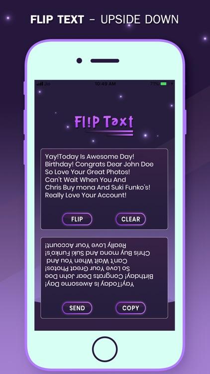 Flip Text Style - Upside Down screenshot-3