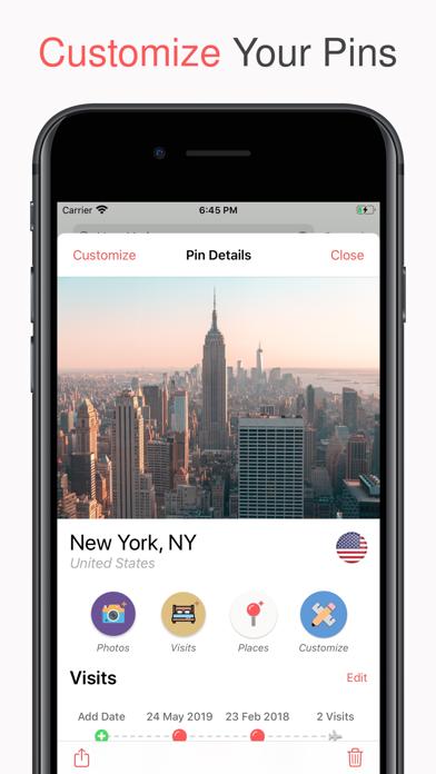 Pin Traveler: Travel Tracker Screenshot