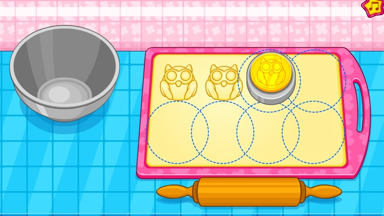 Cooking owl cookies game screenshot-3