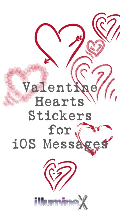 Valentine Hearts Emoji PaX app image