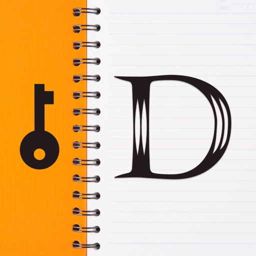 Diary with lock - one journal