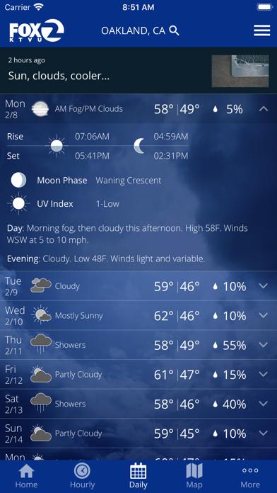 KTVU FOX 2 SF Weatherのおすすめ画像2