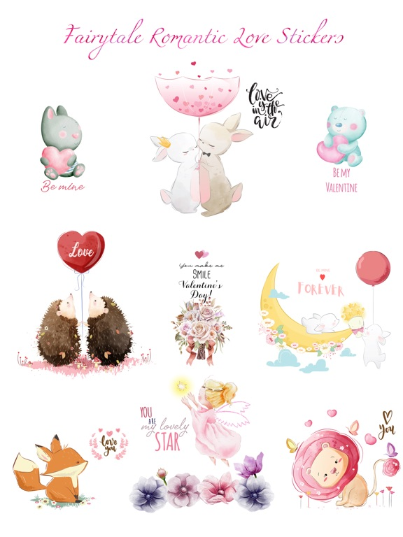 Fairytale Love Stickers screenshot 6