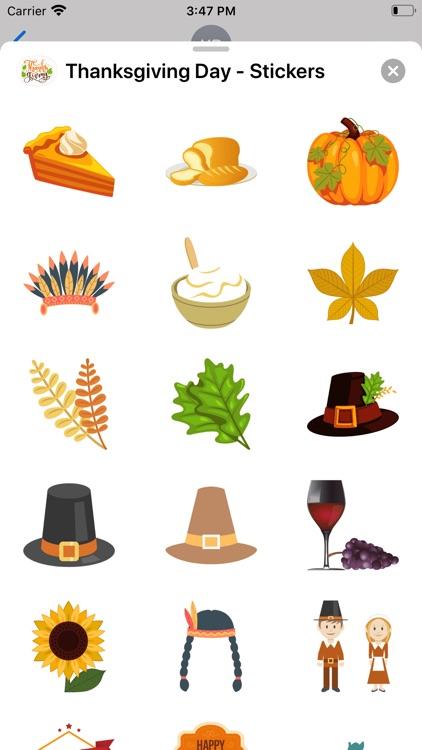Thanksgiving Day - Stickers screenshot-3