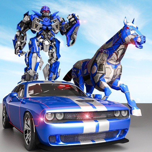 Police Robot Car - Horse games
