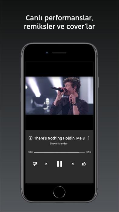 YouTube Music iphone ekran görüntüleri