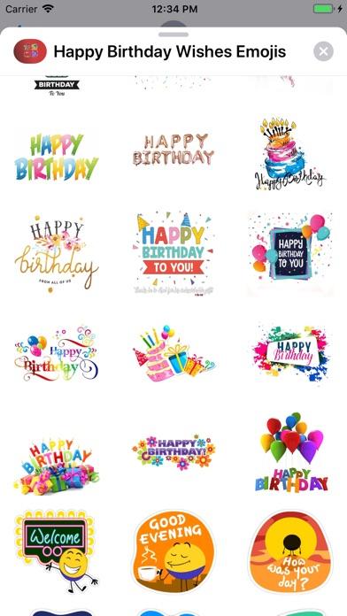Happy Birthday Wishes Emojis