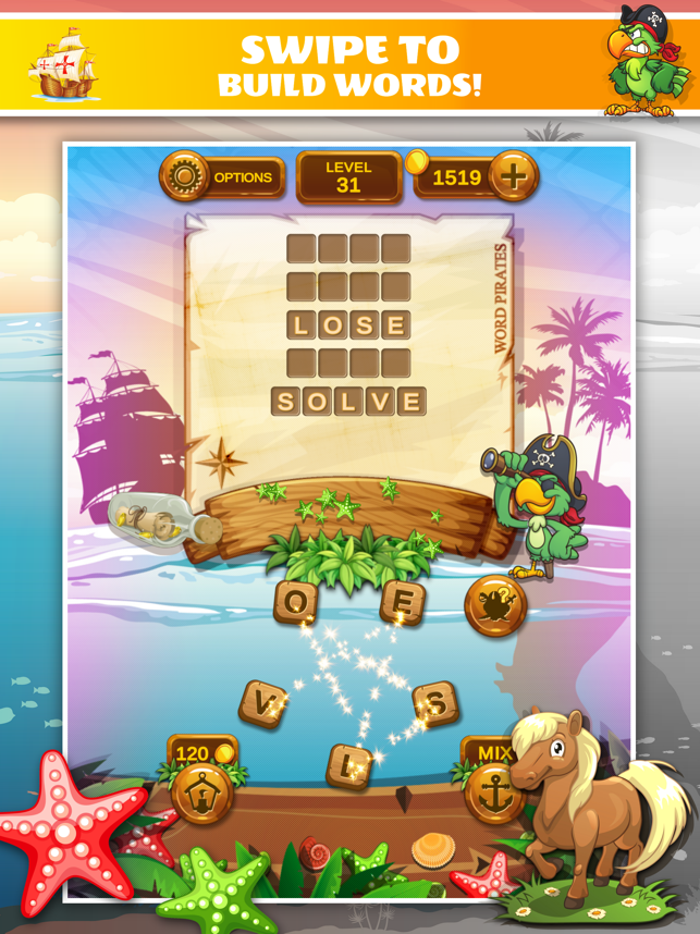 ‎Word Pirates: Word Puzzle Game Screenshot