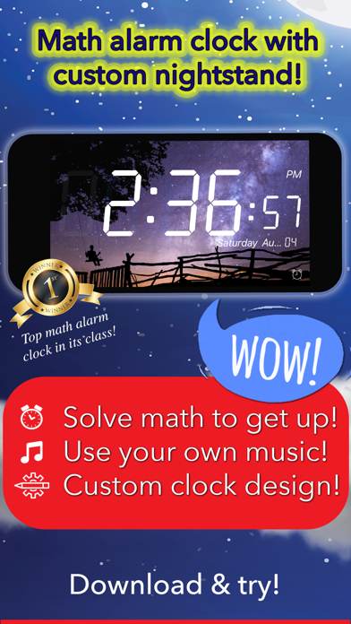 Math Alarm Clock by Mathy