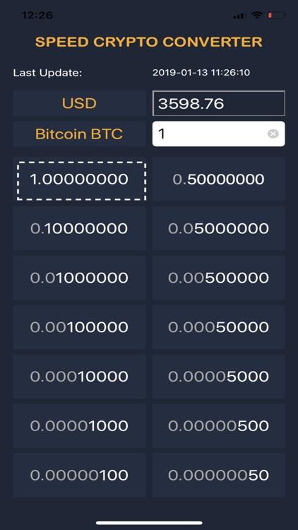 Speed Crypto Converter