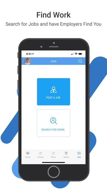 aBlueC: Find Work News Social screenshot-3