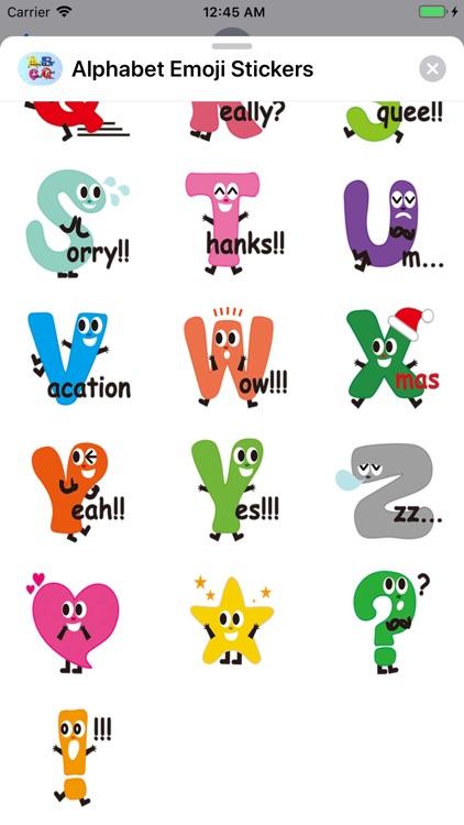 Alphabet Emoji Stickers screenshot-4