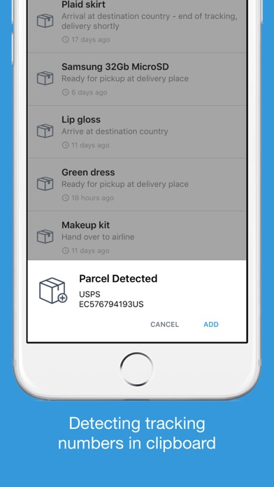 Parcels - Track Your Packages