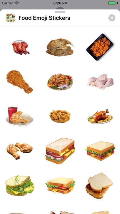 Food Emoji Stickers screenshot-3