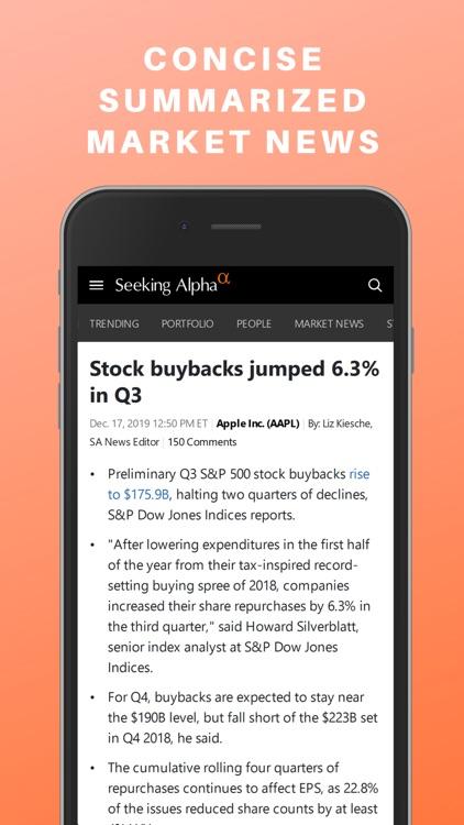 Seeking Alpha: News & Analysis screenshot-6