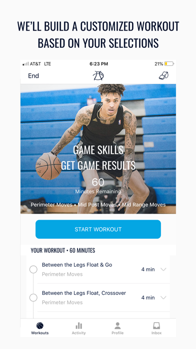 Pure Sweat Basketball Workouts Screenshot
