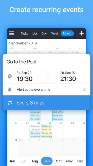 Calendars: Planner & Reminders Screenshot