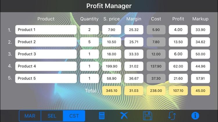 Profit Manager screenshot-3