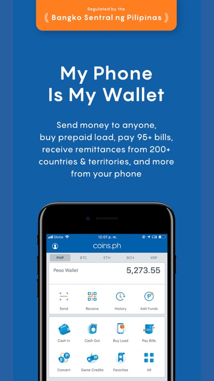 Coins– Load, Bills, Bitcoin