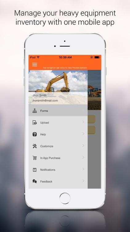 Heavy Equipment Inventory App