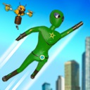 Stickman Superhero City Fight