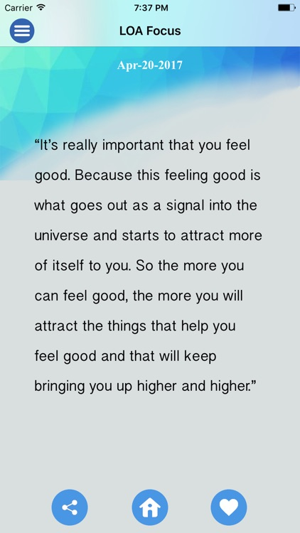 Law of Attraction Focus